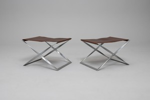 Pair of folding stools, Model no. PK-91