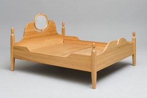 Bed with Adjustable Mirror