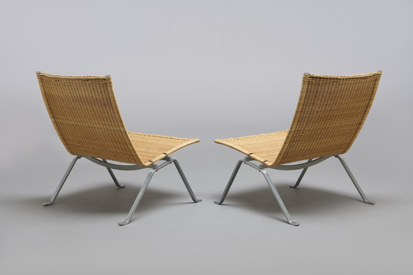 Pair of Lounge Chairs, Model no. PK 22