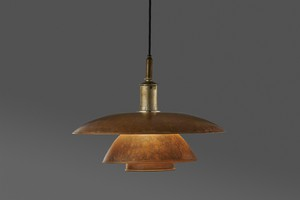 Early Ceiling Light with Model No. 5/5 Shades
