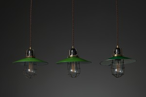 Three Industrial Ceiling Lights