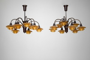 "Two PH ""Bombardemang"" Lamps"
