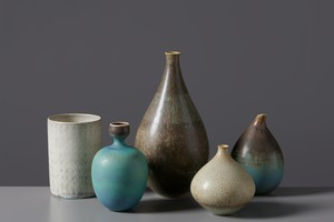 Set of Five Vases