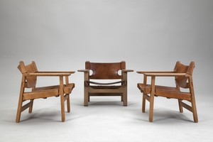 Set of Three Armchairs 'The Spanish Chair'