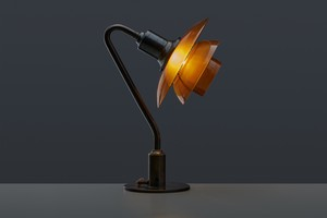 Early Table lamp with Model PH 2/2 Shades
