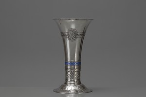 Silver and Enamel Vase