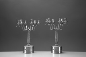 "Pair of ""Swedish Grace"" Candelabras"
