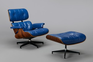 Lounge chair Model No. 670 & Ottoman Model No. 671