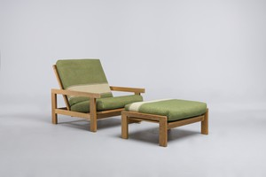 Easy Chair and Ottoman, Model nos 'GE 421' and 'GE424'