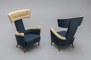 Rare Pair of Armchairs