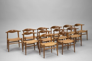 "Set of Twelve ""Cow Horn"" Chairs"