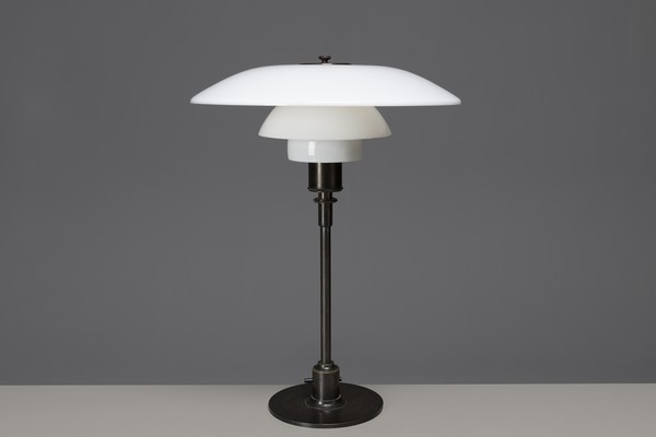 Early Table Lamp with Model PH 4/3 shades