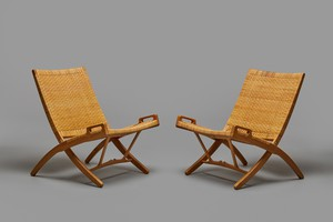 Pair of Folding Chairs, Model no. 512