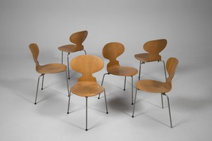 Set of Six Ant Chairs