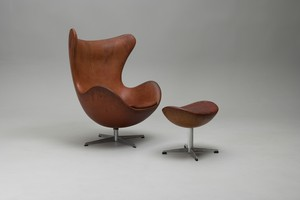 Egg Chair With Ottoman, Model nos 3316 and 3127