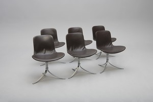 Set of Six Chairs, Model no. PK 9