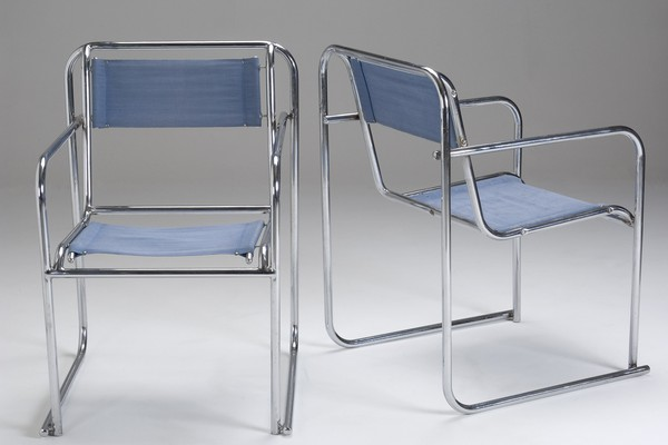 Pair of P.E.L Stacking Chairs
