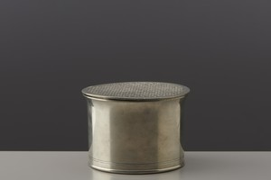 Lidded pewter jar