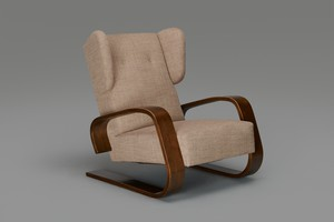 High Back 'Tank' Armchair, model no. 38