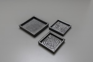 "Three ""Domino"" Trays"