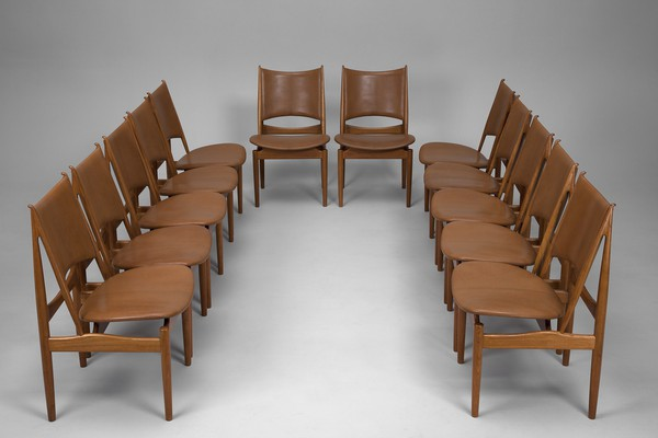 Set of Twelve 'Egyptian Chairs'