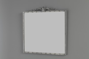 Pewter Neoclassical Mirror