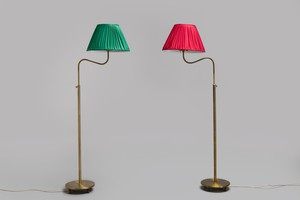 Pair of Adjustable Floor Lamps, Model no. 2568/1