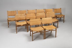 Set of Twelve Dining Chairs, Model No. CH 31