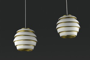 Pair of 'Beehive' Ceiling Lamps, Model no. A331