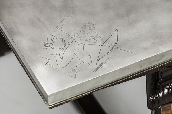 Engraved Pewter Table