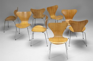 Set of Eight Number Seven Chairs