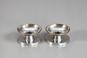 Pair of Pewter Candlesticks