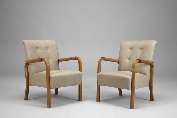 Pair of No.47 Armchairs