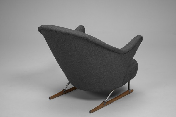 """Sleigh"" Armchair and Footstool"