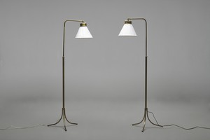 Pair of Adjustable Floor Lamps, Model no. G 1842