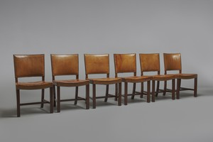 Set of Six 'Red' Chairs