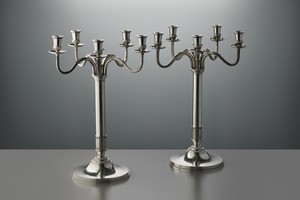 Pair of Silver Candelabras