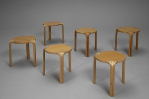 Six Fan Leg Stools/Side Tables