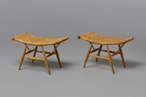 Pair of stools for the Rauma-Repola Company, Helsinki