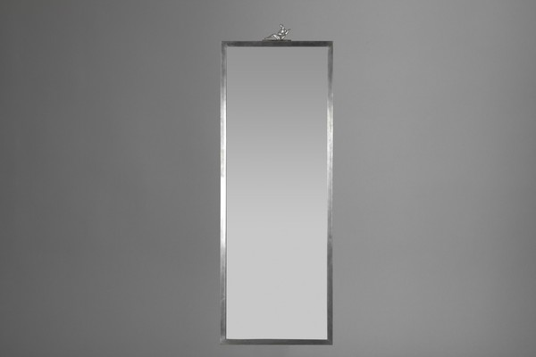 Large Pewter Mirror