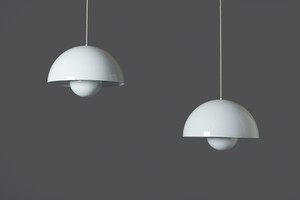 Pair of 'Flower Pot' Ceiling Lights