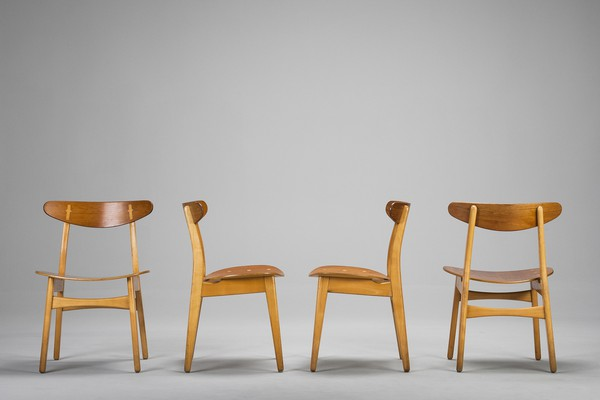 "Four ""CH 30"" Chairs"