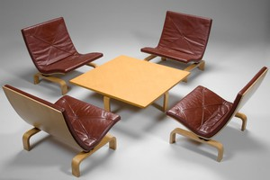 Set of PK27 Easy Chairs and PK66 Table
