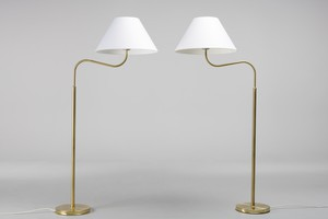 Pair of 'Large Camel' Floor Lamps, Model no. 2168