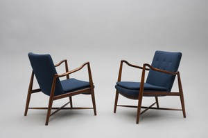Rare Pair of 'Westermann Fireplace' Armchairs