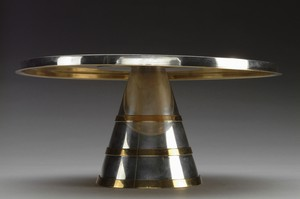 Pewter and Brass Tazza