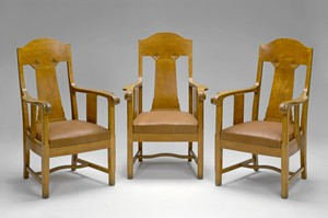 Karelian Birch Armchairs
