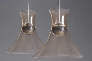 "Pair of Venini ""Otto"" Lamps"