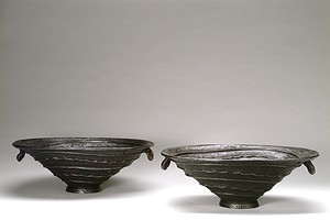 "A pair of ""Shell urns"" Olof Hult"