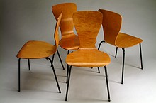 Set of Four Wirkkala Chairs